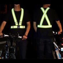 Открытый безопасный пояс для велоспорта Регулируемая безопасность высокий светоотражающий жилет спортивный беговой механизм в полоску жилет 1 шт YANHO 32824838394