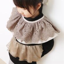 Одежда для малышей для девочек кружева Нагрудники высокое качество розовый черный кружевной воротник шаль накидка нагрудники бандана No name 32880233773