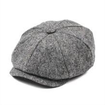 Jangul 100% шерстяная твидовая кепка газетчика мужская шапка женская елочка плоская кепка зимняя для мальчика шапка s 8 панель Boina Ivy головной убор для водителя 004 JANGOUL 32929934656