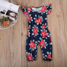 Модные детские для маленьких девочек обслуживает Цветочный комбинезон комплект одежды Emmababy 32836034836