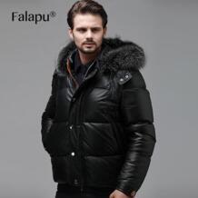 Falapu новые модные зимние мужские из натуральной кожи Подпушка куртка xg-8807a No name 32448824440