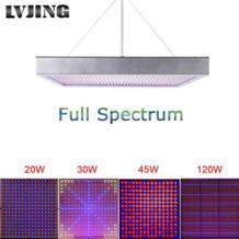 20 W/30 W/45 W/120 W/200 W высокой Мощность завод лампы AC85 ~ 265 V полный спектр светодиодный парниковых растения на гидропонике цветок cветодиодная лампа LVJING 32693295422