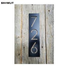 Черный дом номера Вертикальная современный адрес налет варианты размера на заказ No name 32866309256