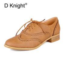 Новинка модные туфли-оксфорды с круглым носком перфорацией типа «броги» для женщин винтажные женские оксфорды со шнуровкой женские повседневные туфли на плоской подошве большие размеры 34–43 D Knight 32618499847