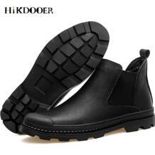 Новый Для мужчин Сапоги Челси из натуральной кожи слипоны обувь с круглым носком, модная обувь, высокое качество сапоги мужские короткие Мокасины-in Обувь челси from Обувь on Aliexpress.com | Alibaba Group HIKDOOER 32898037854