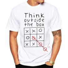 Think Out Side Cool The Box Мужская буквенная Цитата женская пижама футболка с круглым вырезом забавные индивидуальные футболки mx130 teeheart 32360570153