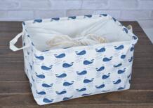 Большие размеры полотно ткани ящики для хранения с часы ткань и ручки, легко сложить и перемещение LTPU 32367279093