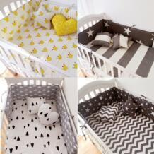 Muslinlife (шт. 1 шт. бампер только) Мода Горячие кроватки бампер младенческой Кровать, Детские накладка на перила кроватки clauds/звезда/точка/дерево, безопасная защита для использования ребенка Muslin life 32683294632