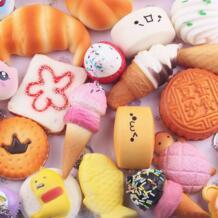 15 шт. Squeeze Toy средний мини Мягкий Squishy Хлеб хлюпает замедлить рост toyskawaii канцелярские салфетки анти-стресс игрушки набор A1 DEBIZHONG 32892570957