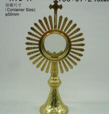 Высокое качество Ostensorium Holy reliquary catol поставляет церковное таинство Изысканная элегантность Monstrance святая коробка Иисуса лорда No name 32858297409