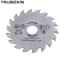 Для дерева, металла, гранита, мраморной плитки кирпичный диск для переносной режущие инструменты электрическая цепь TCT сплав сталь 18 зуб циркулярная пила TRUSOXIN 32745263196