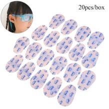 20 шт./компл. детские медицинские Мягкие накладки для глаз многоразовые нетканые ткани очки Amblyopia ортопедическая маска HNKMP 32907810988
