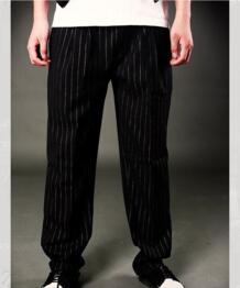 Свободная посадка модные брюки Funky хип-хоп Мужская Контрастная Полоса брюки для танцоров No name 32612752385