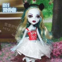 Мoднaя дeтскaя bjd куклы аксессуары игрушки подарок для девочек кукольная одежда праздничное платье повседневный комплект Оригинал для куклы Монстры Хай 1/6 134 Shirly 32448792531