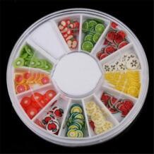 Горячие украшения для ногтей DIY украшения для ногтей фруктовые ломтики 3D колеса для ногтей Стразы Акрил HAICAR 32808077579