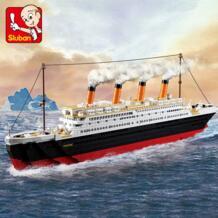 Building Block городской Круизный корабль Титаник маленький 194 шт. и большой 1012 шт. развивающие Кирпичи Игрушка мальчик подарок-без розничной коробки SLUBAN 32881038974