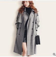 Mlxslky осень высокого класса в британском стиле наряд Женская одежда для отдыха двубортный моды длинное пальто свободные женский плащ No name 32463704238