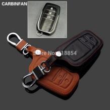 Бесплатная доставка кожа чехол для ключей удаленного Брелоки для автомобиля брелок для 2013 Toyota RAV 4 RAV4 No name 2055253637
