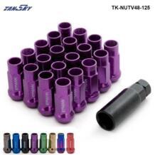Jdm V48 12x1,25 продлить обода колеса консоль тюнера гайка с коническим отверстием производства желудь фиолетовый EG TK-NUTV48-125 EPMAN 32569864205