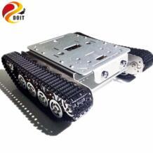 DOIT амортизация TSD200 4WD металла гусеничный дистанционного Управление цистерны шасси Алюминий сплав колеса умный робот игрушка для DIY No name 32802779366