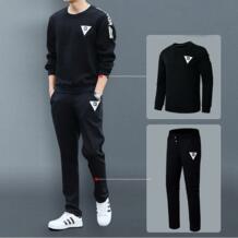 Спортивный костюм Для мужчин комплект толстовка Штаны спортивный костюм дно пуловер бегуном руно пот Штаны Демисезонный рубашка с длинными рукавами Для мужчин 2 шт. HESIDA 32868654911