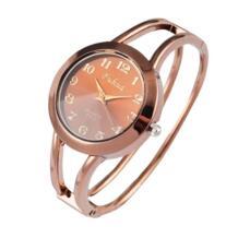 Горячая Мода выдалбливают браслет часы розовое золото наручные часы Круглый циферблат аналоговые кварцевые часы женские часы relogio feminino SOXY 32646729285