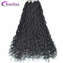 Chorliss 20 дюймов чёрный; коричневый Цвет Синтетические пряди для наращивания волос искусственная locs вьющиеся крючком волосы косы 24 пряди 75 г/упак. No name 32841972289