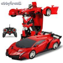 RC автомобиль спортивный автомобиль модели трансформации роботы Дистанционное управление деформации автомобиля rc роботов дети Игрушечные лошадки подарки на день рождения abbyfrank 32797796063