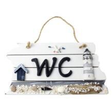 MYLB-Средиземноморский стиль скандинавский деревянный WC Shingle Doorplate/Plaque/Sign No name 32750215843