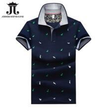Новинка 2018 г. Модные Для мужчин рубашки поло Slim Fit короткий рукав животных печати поло Для мужчин летняя одежда дышащие мужские футболки поло M-4XL james wang king 32790184654