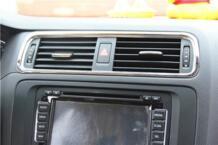 Наклейки ABS хромированной отделкой Передняя Центральная кондиционирования воздуха на выходе украшение для Volkswagen VW Jetta MK6 AOSRRUN 32238284284