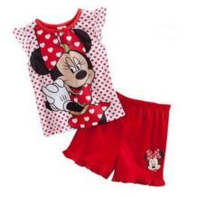 2018 детские пижамы летние детские пижамы с короткими рукавами рубашка + короткие штаны комплекты из 2 предметов Детский костюм для 2-7 лет YYW55 PUCKISH BABY 32858482518
