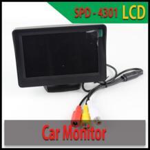 Бесплатная доставка 4,3 ''ЖК-дисплей заднего вида Камера монитор 2 видео Вход монитор автомобиля для парковки Сенсор Универсальный Автомобильный видеоплеерам No name 1729133289