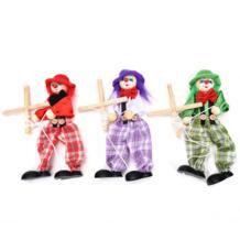 Винтажная красочная забавная игрушка ручной работы Потяните веревку кукольный клоун деревянная игрушка марионетта шарнирное Действие Кукла подарок для детей ремесло BESTIM INCUK 32722235944