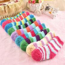 Зимние теплые модные носки из кораллового флиса ярких цветов для малышей от 0 до 3 лет, носки для маленьких мальчиков и девочек Kacakid 32778176522