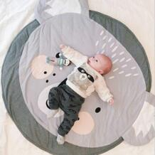90 см круглый мультфильм животных развивающий коврики для младенцев игры дети ковер-загадка хлопок Пол ковры Bedroon украшения No name 32873100920