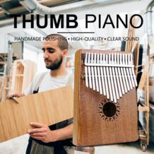 17 ключ калимба инструмент, карманный размер перкуссия клавиатуры легкий и портативный Африканский красное дерево большого пальца фортепиано Rahano 32849511324