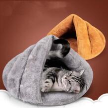Бархатное мягкое зимнее сиденье кошка кровать теплый питомец маленькие щенки маленькие животные собака постельное белье диван Дом Питомник Складной Милый животный продукт PETCIRCLE 32904720954