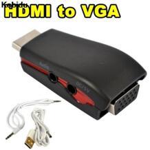 адаптер hdmi-vga мужского и женского пола коннектор 1080 P с 3,5 мм аудио кабель USB Мощность для xbox 360 PS2 HDTV DVD kebidu 32789030859