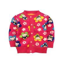 Повседневное одежда для маленьких мальчиков и девочек мультфильм теплые свитера пальто Дети Детский кардиган с круглым вырезом плотная верхняя одежда 0-2 лет Kacakid 32850053327