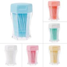 200 шт. 6 цветов двойной головкой межзубные щетка-зубочистка с шестиугольная коробка зубные уход за полостью рта зубная нить MAANGE 32846455700