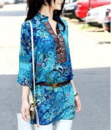 Новое модное летнее женское шифоновое платье с v-образным вырезом и цветочным принтом женское платье большого размера Let-Setting 1858617030