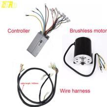 Tdpro электрический стартер регулятор бесщеточного двигателя провод провода с оплеткой стабилизатор тока для 1800 W 48 V электромотор для карта питбайк No name 32848169722