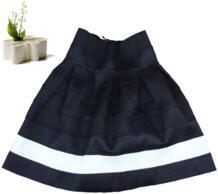 Вдохновленный рокабилли Черный и белый цвета Scalloped Stripes Ponte юбка/мини-юбка A35 No name 1489516440