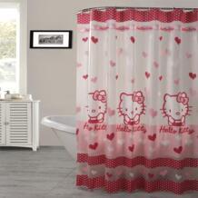 Счастливое дерево PEAV полупрозрачная Водонепроницаемая занавеска для душа розовый цвет Kitty Cat занавес для ванной комнаты пластиковый занавес для ванной 180x180 см happy tree 32326575173