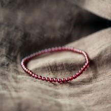 Натуральный 0,4 см гранат бусины Кристалл Красивая девушка женщина браслет модные украшения HAEQIS 32408896721