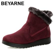 BEYARNE/бесплатная доставка; новые зимние ботинки на пуговицах; большие размеры; теплые зимние ботильоны; нескользящая зимняя обувь No name 32215639750