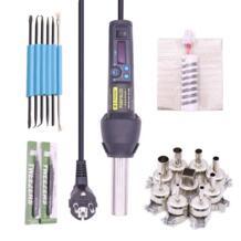 EU220V/AU110V 650 Вт градусов ЖК дисплей регулируемый электронный тепла фена распайки паяльная станция IC SMD BGA + 9 сопла No name 32610099957