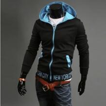 Free shipping 2015 autumn winter new fashion Men's long sleeve Clothing Hoodies & Sweatshirts mens casual slim Zipper for man No name 1300036142