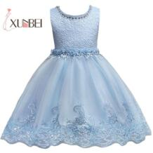Розовое платье принцессы с цветком и грушами для девочек, коллекция 2019 года, пышные платья для девочек, платья для первого причастия, платье для дня рождения xunbei 32824351129